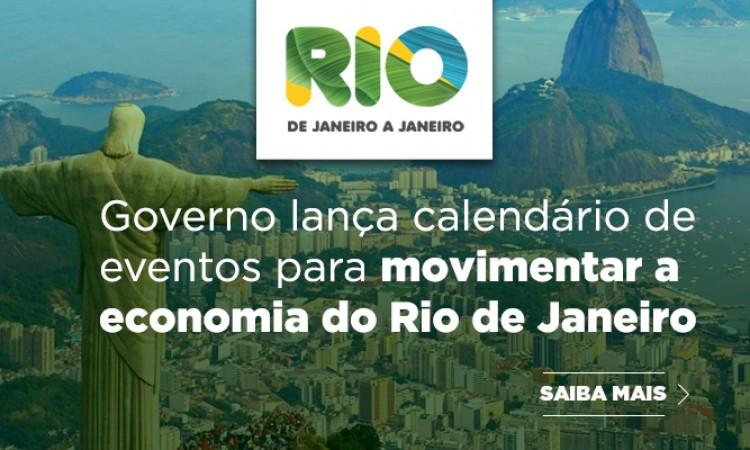 Governo lança calendário de eventos para recuperar a economia no Rio de Janeiro